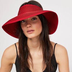 Red Free People color splash visor